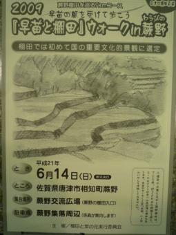 2009『早苗と棚田』ウォークin蕨野