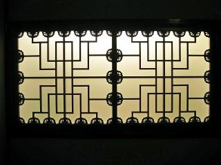 室内の窓格子