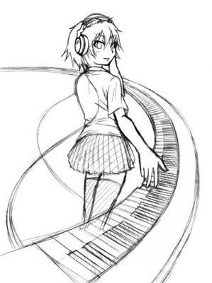 ピアノとヘッドホン