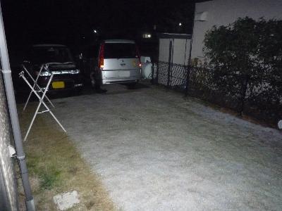 里にも初雪です。