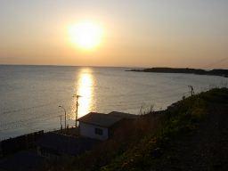 江差の夕陽