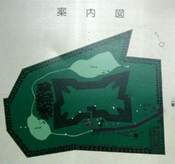 四稜郭案内図