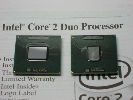 Core 2 Duo T7400とCore Duo T2300E