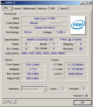 CPU-Zの情報