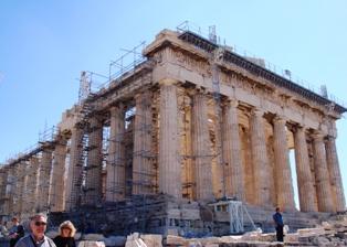 パルテノン神殿横