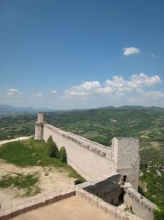 城から見た見張り台