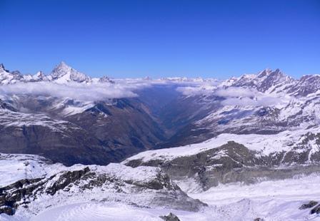 スイス側の谷
