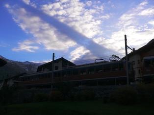 マッターホルンの雲に映る影