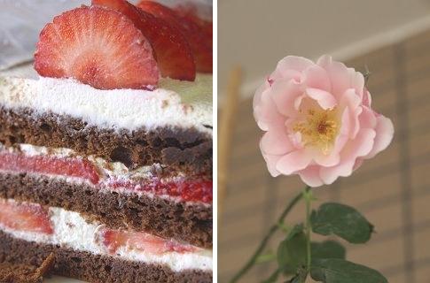 ケーキ バラ