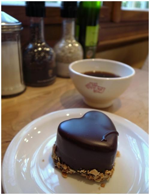 チョコレートムースハート
