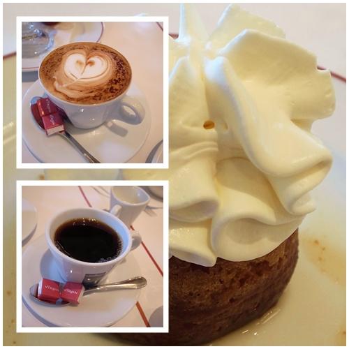 カプチーノ、カフェ