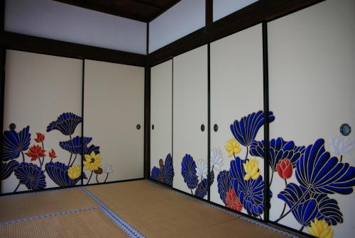 京都紅葉青蓮院襖