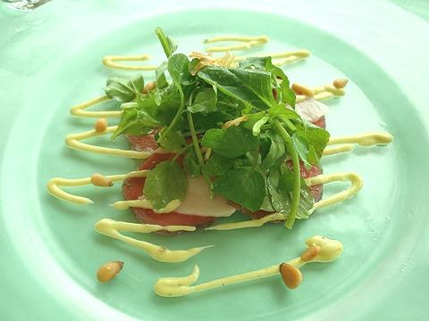 MenuSakura 桜肉のカルパッチョ