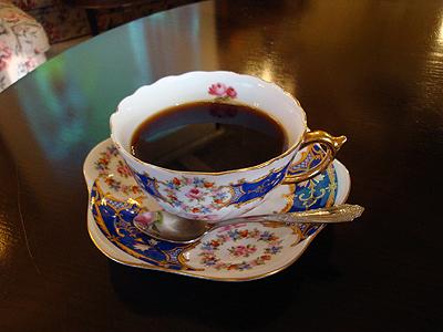 不思議なお店のコーヒー