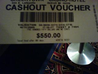 $500 Ticket