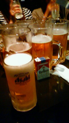 特大ビール占領