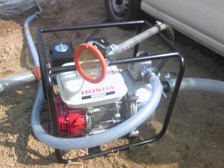 エンジンポンプ&ニュー散水器