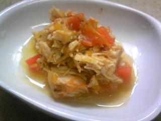 地鶏のローマ風トマト煮込み(はっちゃん用)