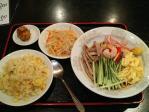神保町 香港食市場 冷やし中華+五目チャーハン