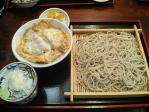 神保町 侘助 半カツ丼セット(もりそば)