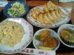 水道橋 餃子の王将 チャーハンセット+餃子