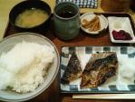 神保町 魚玉 サバ塩焼き定食