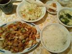 神保町 上海美食 鶏肉とカシューナッツ炒め定食