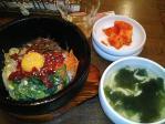 韓国家庭料理 ノルブネ 神保町小学館本店 ユッケ石焼ビビンバ