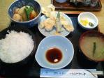 神保町 菊水 春の煮物ととり天定食