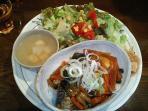 神保町 手仕事ダイニング 炎○ お魚Bowl(揚げ鯖の野菜あんかけ)