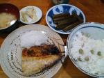 神保町 近江や ピースごはん+ふき煮物+さば焼(小)