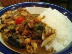 神保町 エチオピア チキン+野菜カレー(2倍)+トマトサラダ