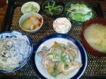 新町 Asian Cafe 花雷 日替わり(豚の生姜焼)