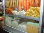 タイの屋台の麺屋さんのディスプレイ