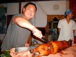 1000本記念、豪華に豚の丸焼きです!(笑)