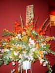 青二塾29期生卒業公演へのお祝いの花束