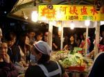 台北士林市場の屋台