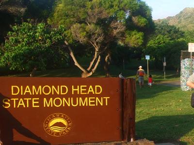 ハワイ ダイヤモンドヘッド 日の出