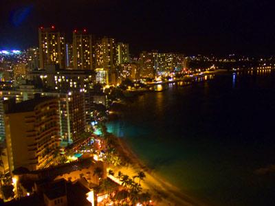 ハワイ旅行 夜景