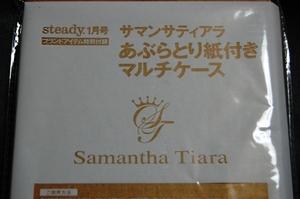 雑誌 steady 1月号付録 サマンサティアラ あぶら取り紙付きマルチケース