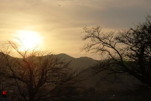 安来の夕陽