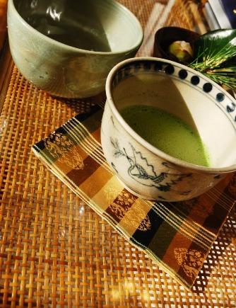 鶴のお茶碗