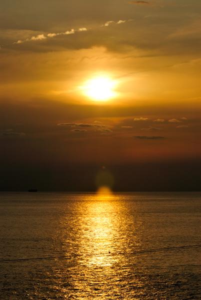 南紀白浜からの夕景。