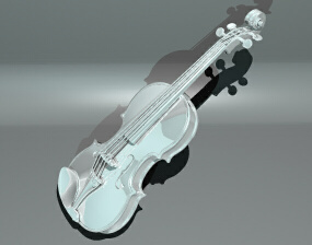 3Dバイオリン レンダ後