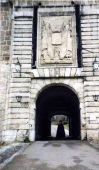 ブザンソンの城の入口