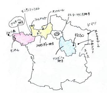 ブルターニュ指摘地図