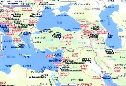 ヤフートルコ地図