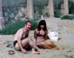 黒海の砂浜