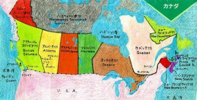 カナダイラスト地図