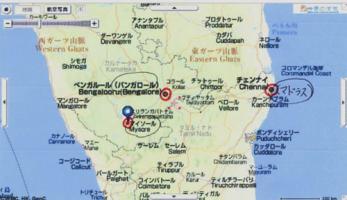 ヤフーインド地図